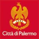 Comune Palermo logo fondo rosso